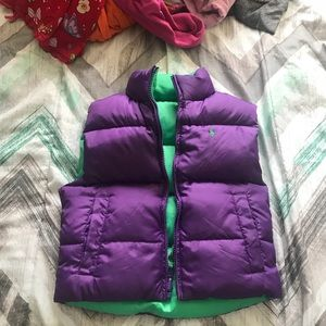 Girls Ralph Lauren reversible vest